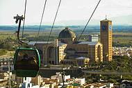 Do alto do teleférico, vista perfaita do Santuário