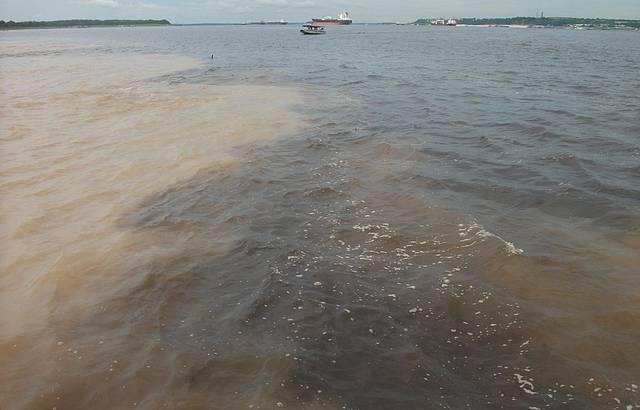 Encontro das �guas do Rio Negro com o Rio Solim�es