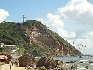 Vista para o farol da segunda praia