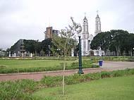 Vista parcial da pacata cidade