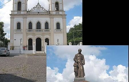 Praça da Igreja da Matriz - Duas Fotos em Uma