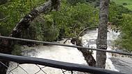O Rio do Peixe que atravessa a área do hotél