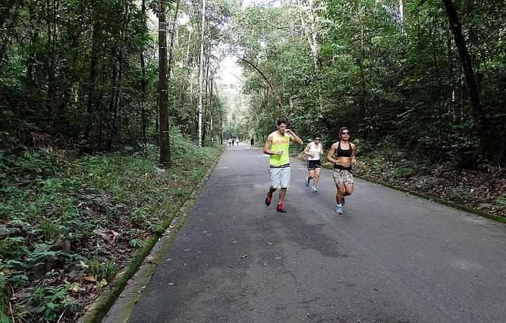 Cenário convida a corridas e atividades físicas