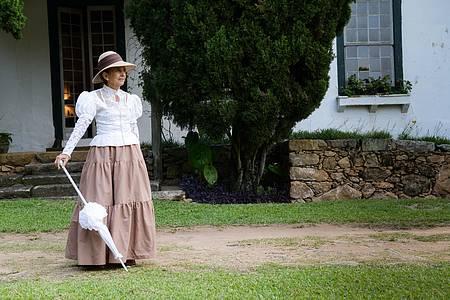 Fazenda Santa Eufrásia - Baronesa dá boas vindas aos vistantes