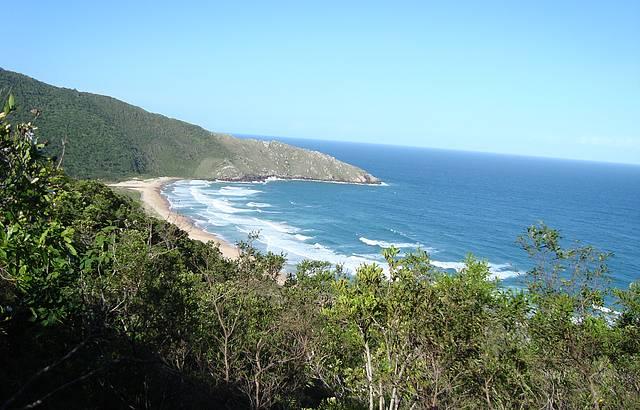 Vista da trilha de acesso
