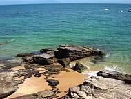 Uma ótima praia para mergulho.