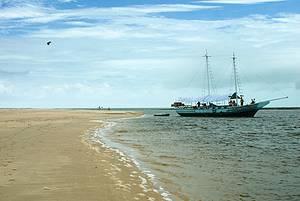 Passeio de barco pelos recifes