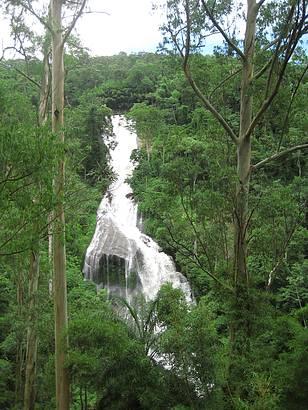 O encanto da cachoeira.