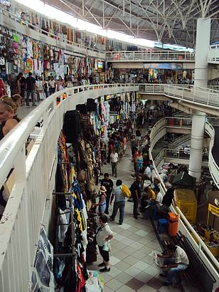 Vista do interior do Mercado Central