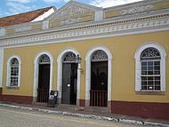 Fachada do Teatro São João, na histórica cidade da Lapa,PR