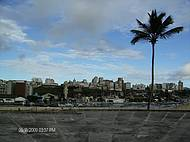 Cidade baixa de São Salvador vista do Forte de São Marcelo.