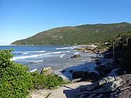 Bela vista praia do Sul da Ilha