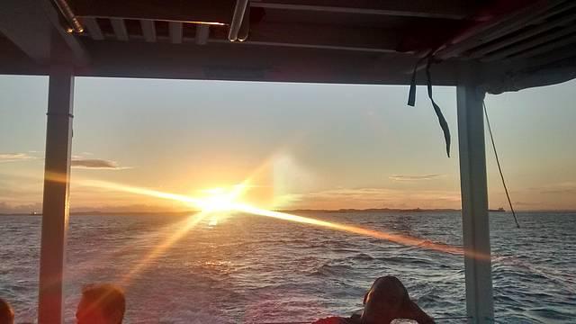 Pôr do Sol na volta para Salvador