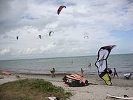 Prática de Kite Surf