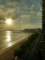 Nascer do sol sobre Mucuripe vista a partir da praia de Meireles