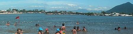 Rio em barra de São João - Temperatura deste rio é excelente.