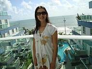 Hotel Coral Plaza - olha a vista logo de manhã