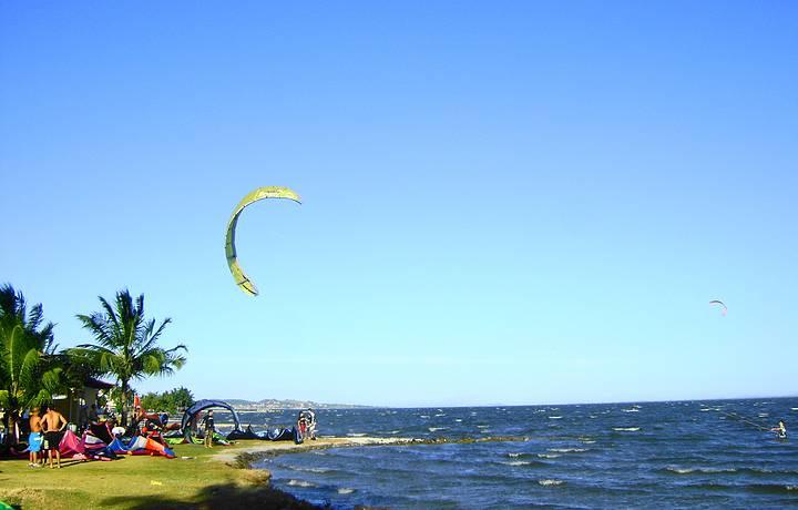 Ponto de encontro dos adeptos do kitesurf