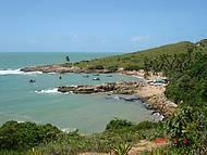 Vista de cima da praia de Calhetas