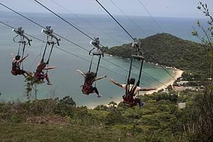 Parque Unipraias: ZipRider leva à praia de Laranjeiras!<br>