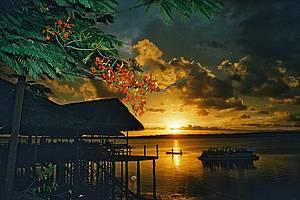 Praia do Jacaré: Pôr do sol tem música clássica e bela moldura -