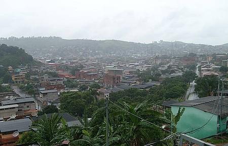 Bairro Bethania - Vista panorâmica em tarde chuvosa
