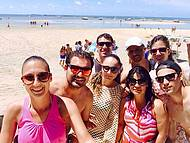 Foto com a fam�lia em Praia dos Carneiros!