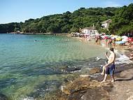 Simplesmente maravilhosa, praia de águas cristalinas e calmas