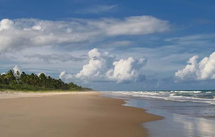 A praia hoje