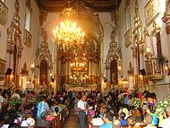 Missa na famosa igreja.