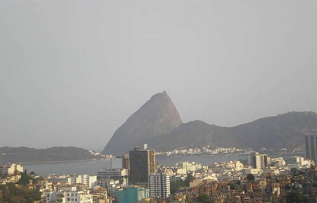 Vista da cidade do Rio de Janeiro do Parque das Ruínas