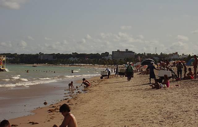 Parte da vasta orla das praias