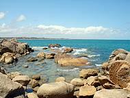 As pedras deixam a paisagem ainda mais bonita