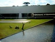 Vista externa do Museu, logo na entrada.