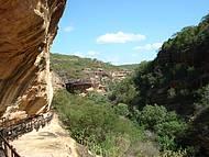 Um dos sítios arqueológicos do Parque Serra da Capivara