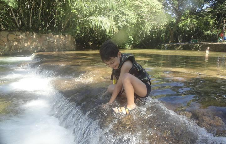 Primeira caida na água