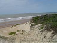 Uma bela praia.