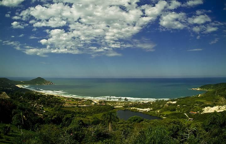 Visual de 180º da Praia do Rosa
