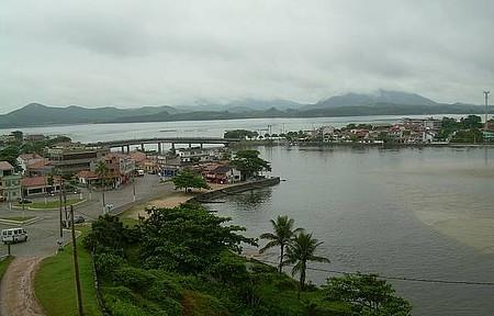 Vista da Lagoa  de Saquarema pela Igreja Nossa Senhora de Nazaré