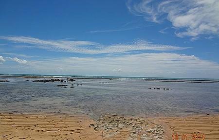 Passear na praia do Espelho - Durante a caminhada parada pra foto