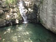 Outra cachoeira dentro do parque estaduasl em Caldas Novas