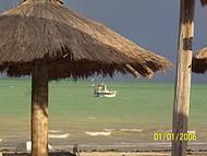 Fim de tarde em um dos quisques da praia.