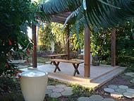 Cantinho de paz no jardim do Kaakupê