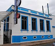 Fachada do Restaurante, no Centro Histórico da cidade