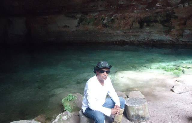 Trilhas das cavernas, Gruta da Lagoa Azul
