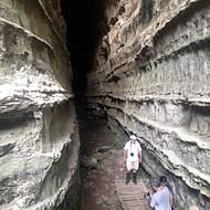 Cenários impressionantes no interior da caverna