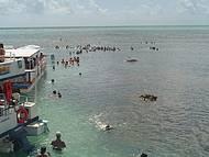 Passeio de barco para as piscinas naturais de Picãozinho