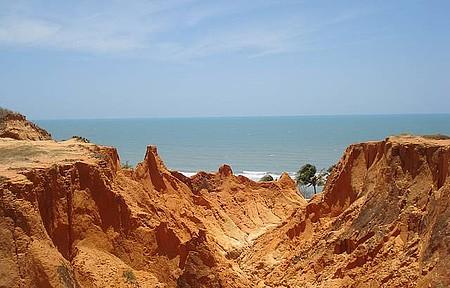 Falésias em Morro Branco (Beberibe). Cartão-postal