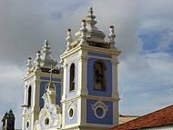 Detalhe da torre da igreja de Nossa Senhora dos Pretos, no Pelourinho.